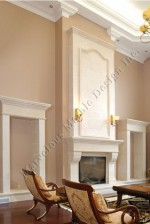 Limestone Fireplace Mantel Design