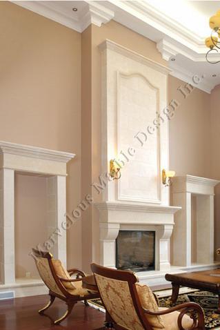 Limestone Fireplace Mantel Design