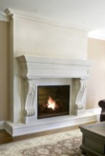 GIULIANA Limestone Fireplace Mantle