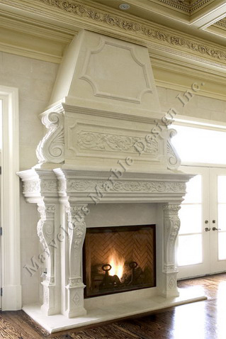 Italian Limestone Fireplace Mantel In New York And Chicago