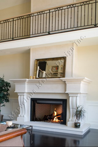 Limestone Fireplace Mantel Surround