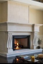 BEXDALE Limestone Fireplace Mantel Surround