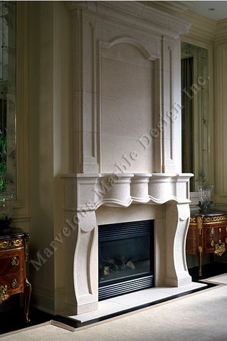 Luxury Limestone Fireplace Mantel