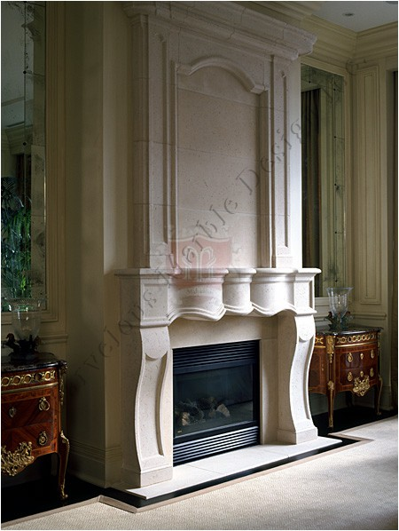 Luxury limestone fireplace mantel in new york and ct for Luxury fireplace designs