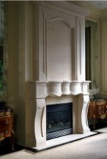 BELLAIR Luxury Limestone Fireplace Mantel