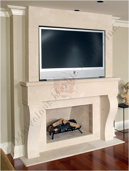 fireplace mantel with tv new york marvelous marble. Black Bedroom Furniture Sets. Home Design Ideas
