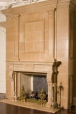STRATFORD Vintage Limestone Fireplace Mantel Design