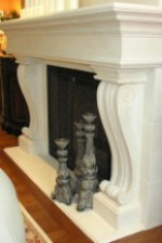 ANTONELLA Custom Limestone Mantel Surround