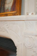 QUEEN French Limestone Mantel