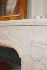 QUEEN French Limestone Mantel