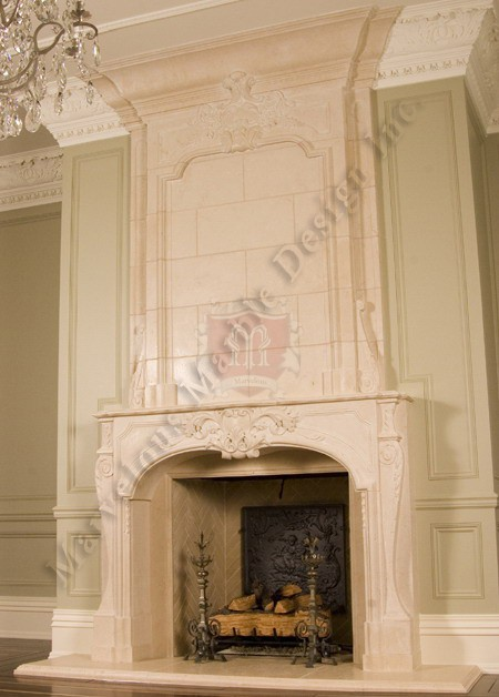 Fireplace Mantels Design In Limestone Or Marble By