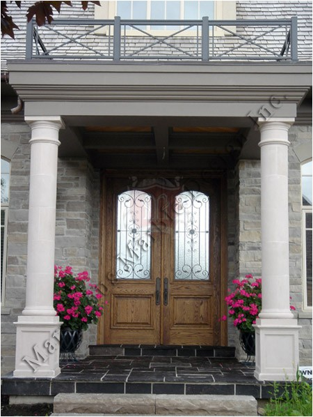 Indiana limestone architectural stones marvelous marble for Decorative exterior columns for house