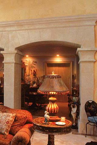 limestone pilasters