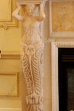 ANGELS Custom marble fireplace mantel