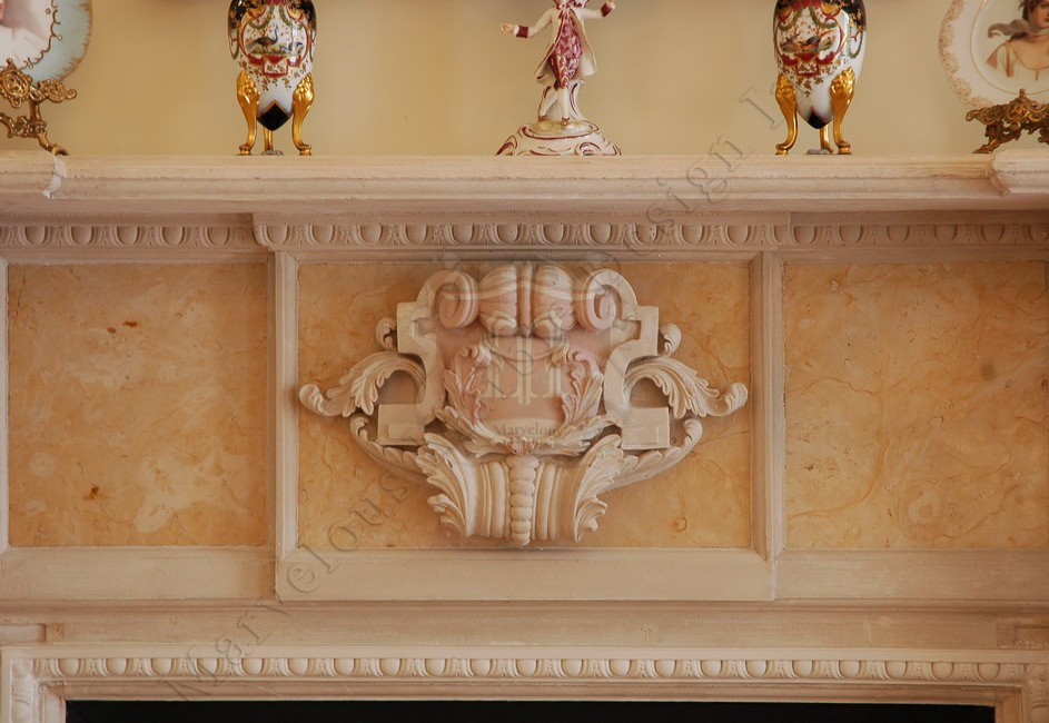 Custom Marble Fireplace Mantel In New York Or Los Angeles