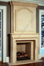 French Provincial Mantel With TV