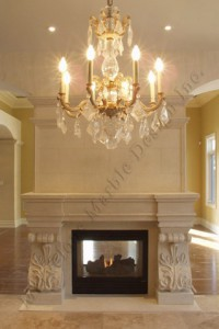 french limestone fireplace surround