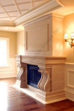 limestone mantel surround