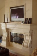 FLUTED TOSCANA limestone mantel surround