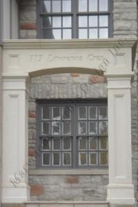 Texas limestone entrance