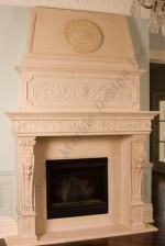Luxury Limestone Mantel