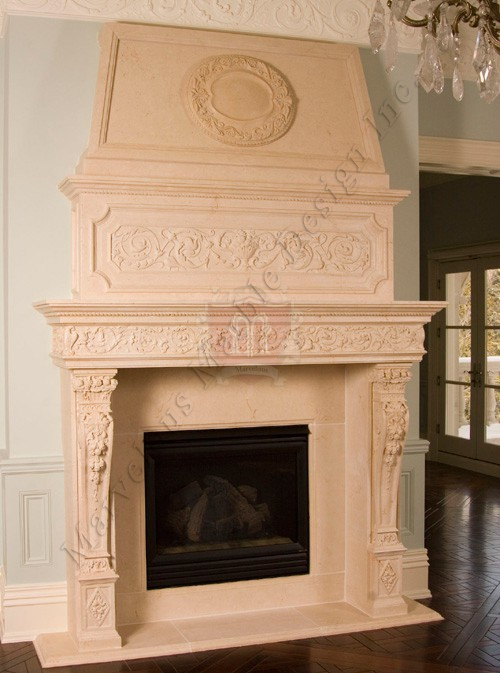 Luxury Limestone Mantel In San Francisco