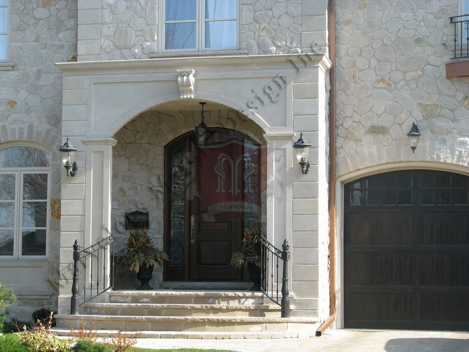 Custom Indiana Limestone Entrance Design In New York