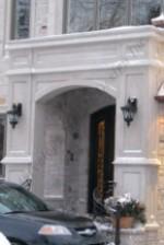 Custom Portico indiana Limestone Entrance with lights