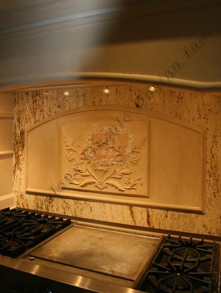 Carved Tile Backsplash Custom Limestone Backsplash