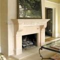 Limestone Custom Fireplace Mantel