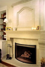 VICHY Limestone Custom Fireplace Mantel