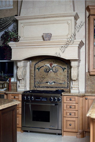 limestone kitchen hood