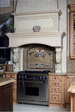SALISBURG Limestone Kitchen Hood for high Ceiling Design