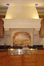 DEL FIORE Stone Range Hood in 8 Ft Ceiling
