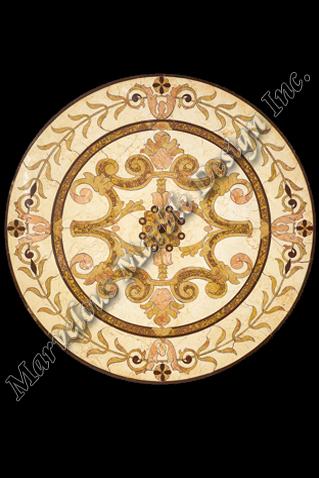 luxury marble floor medallion