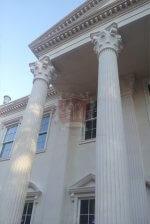 Exterior limestone column