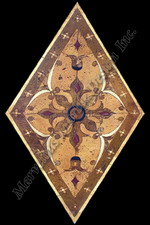 CATANIA water jet cut marble medallion design