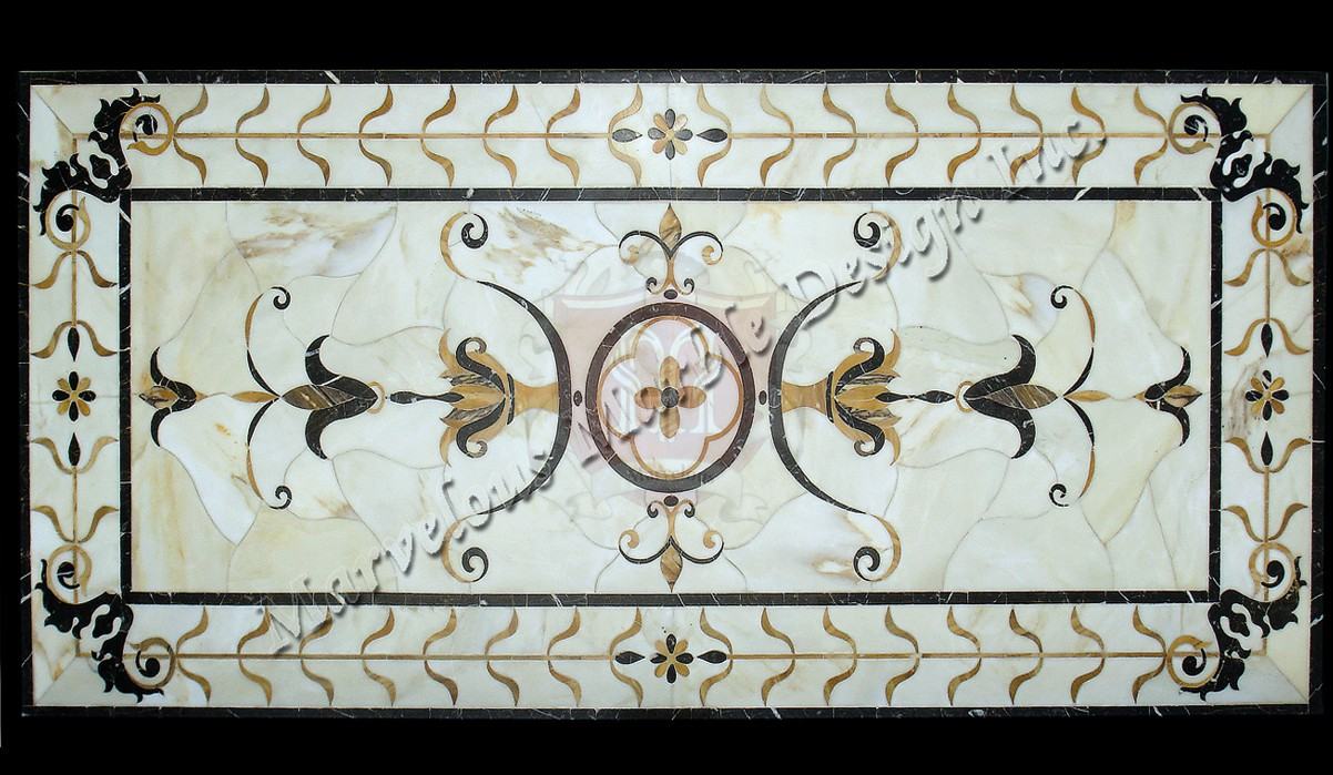 Rectangular Marble Medallions Used In California And Ny