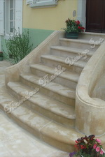 Solid French Limestone Stairs