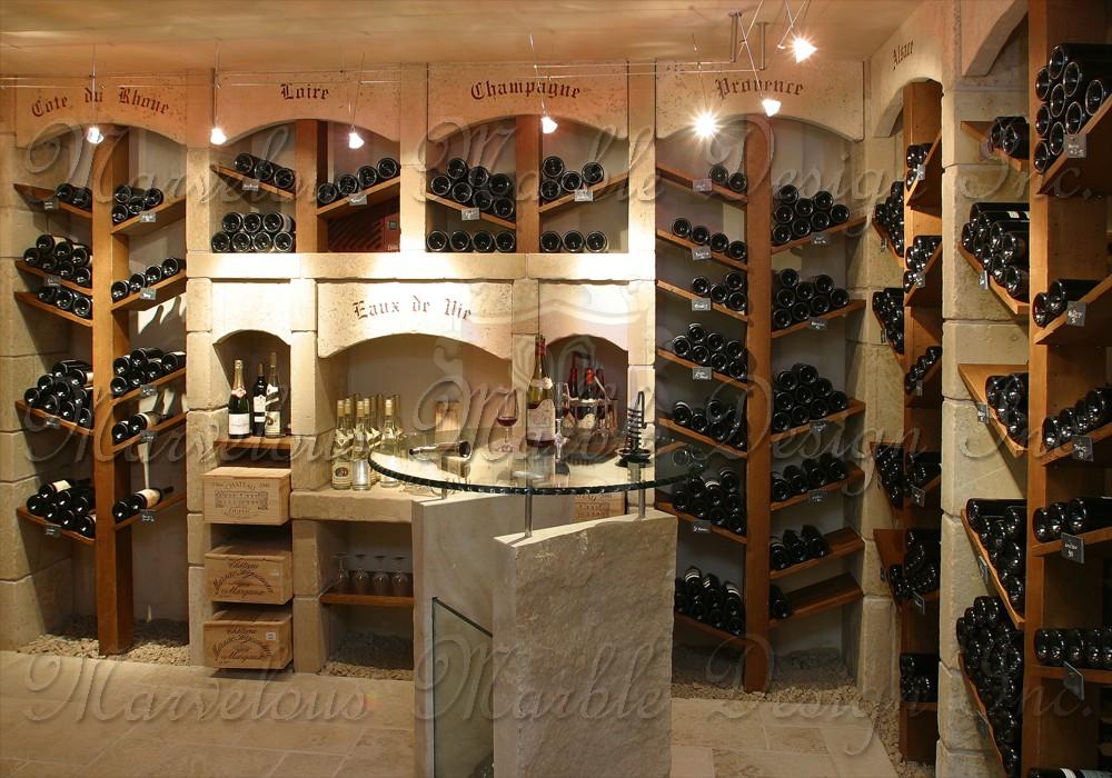 French Limestone Wine Cellar Marvelous Marble Design