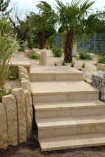 French Limestone tiles in Exterior
