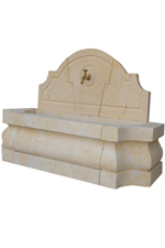 French Limestone Wall Fountain