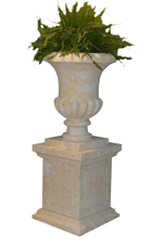 Carved French Limestone Planter