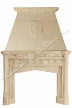 gothic limestone mantel