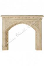 limestone Gothic mantel
