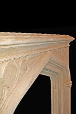 Antique 312 Gothic French Limestone Mantels