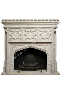 travertine fireplace mantel