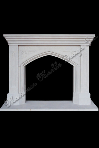 carved limestone mantels