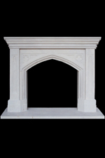 Antique 314 carved limestone mantels