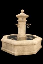 Custom French Limestone Fountain